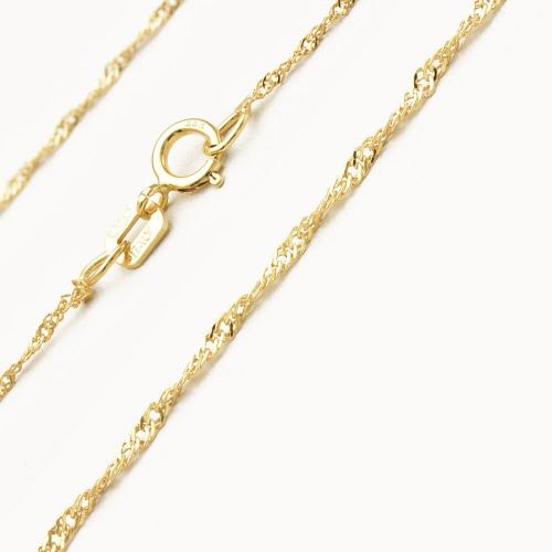 Złoty łańcuszek SINGAPUR 333 40cm