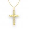 Złoty łańcuszek MEDALIK komunia chrzest 585